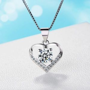 Jewelry - Pave Crystal Heart Pendant Statement Necklace